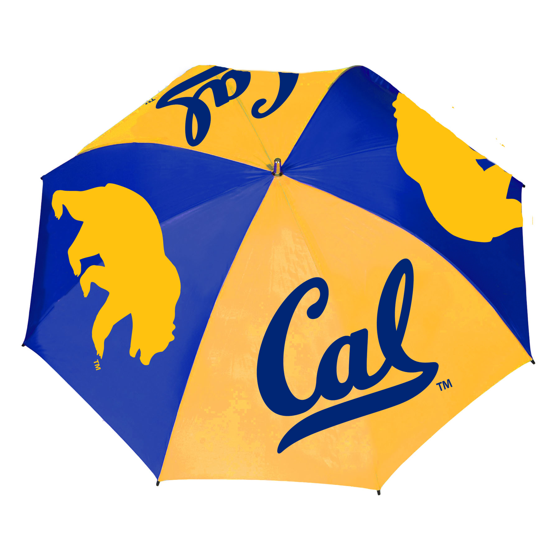 "Cal Bears 62"" Sporty Golf Umbrella with Wood Shaft and Handle"