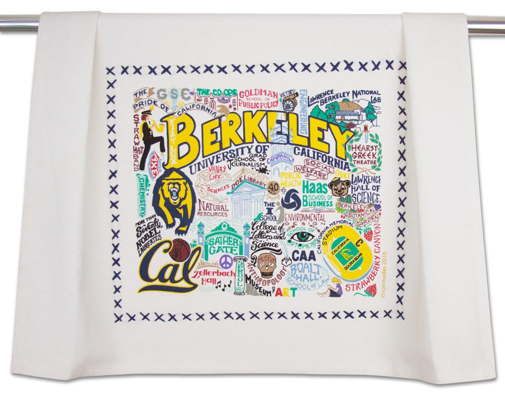 University of California Berkeley Catstudio Dish Towel