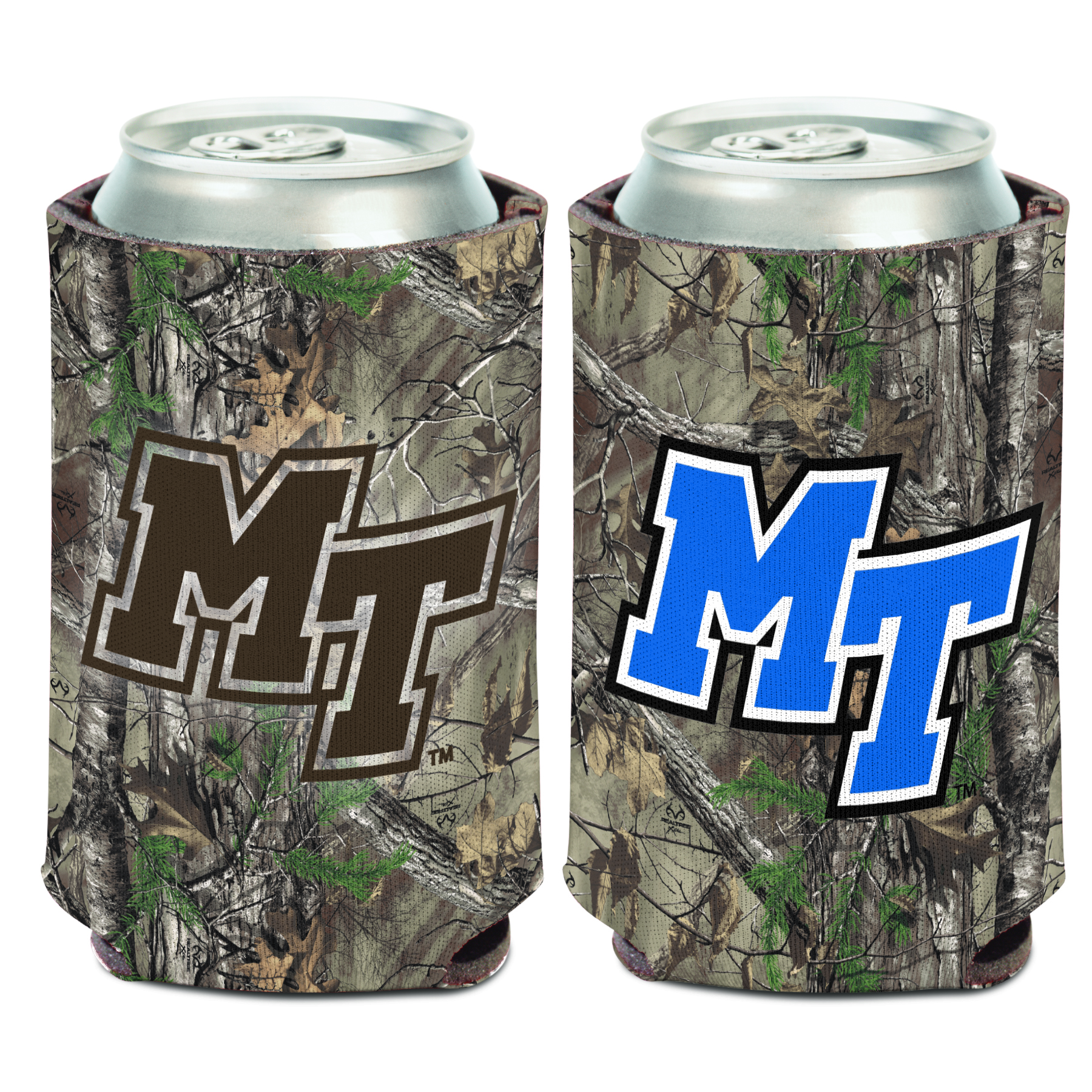MT Logo Camo Can Coozie