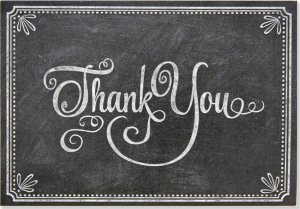 Boxed Thank You Cards: Chalkboard