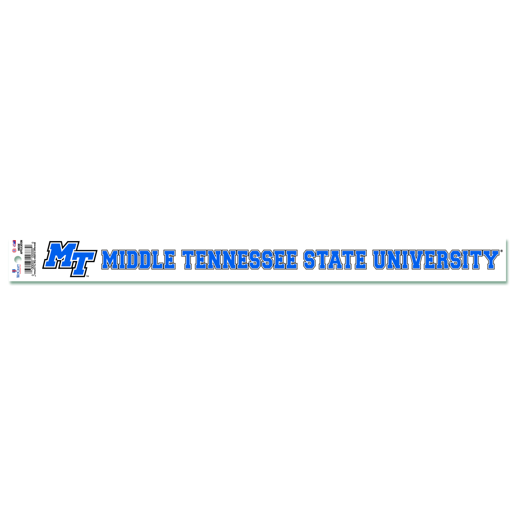 Middle Tennessee State University Static Cling Decal