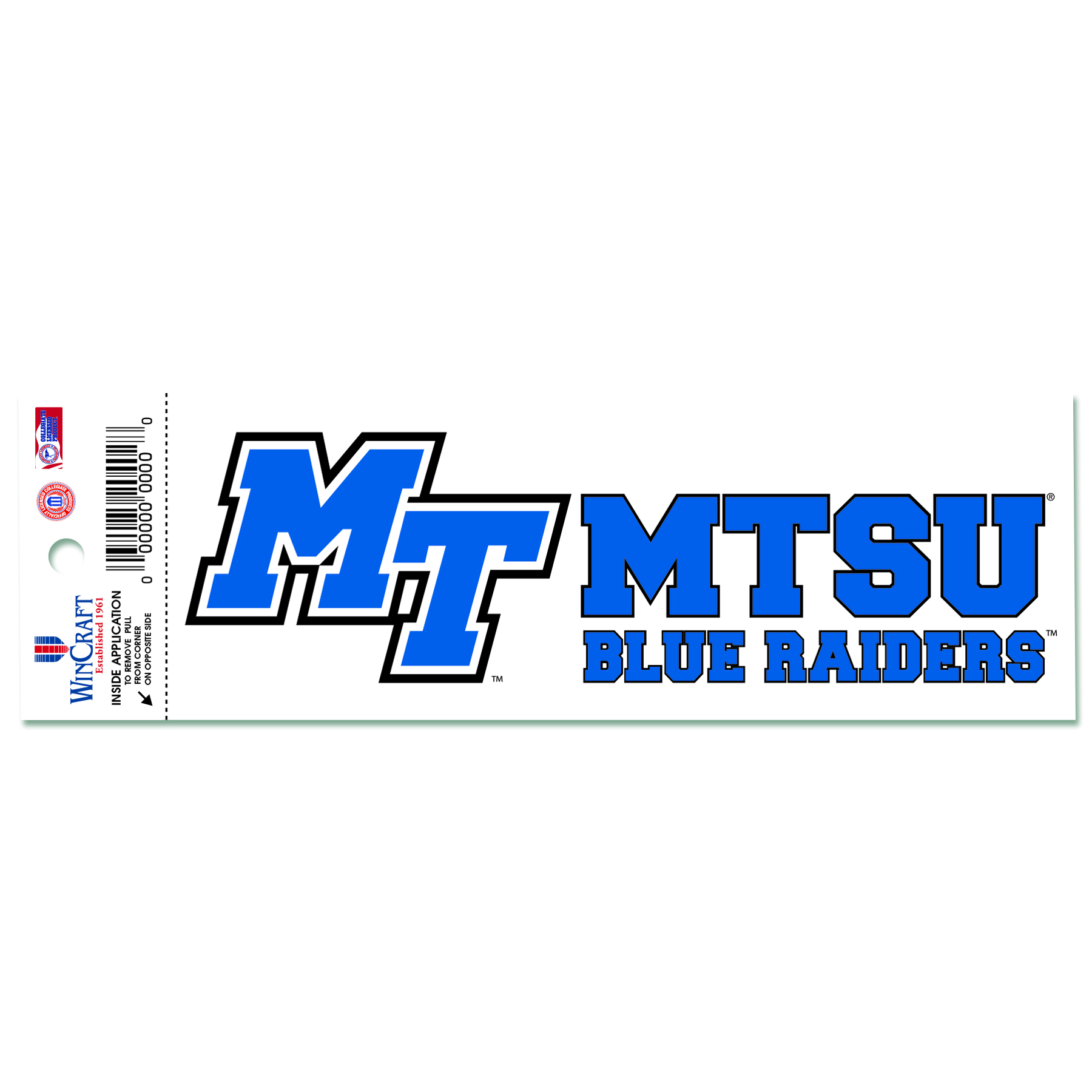 MTSU Blue Raiders Static Cling Decal