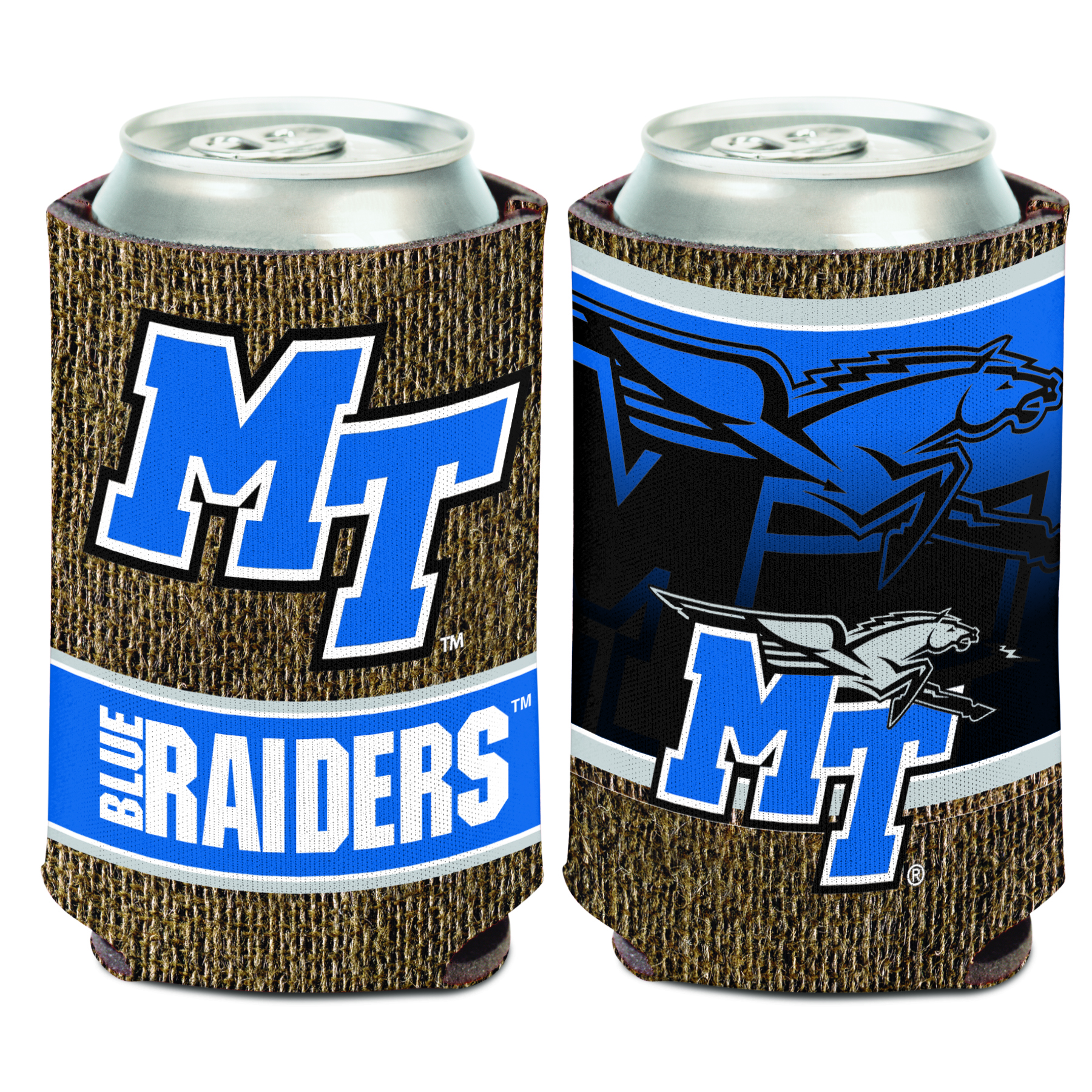 MT Burlap Can Coozie