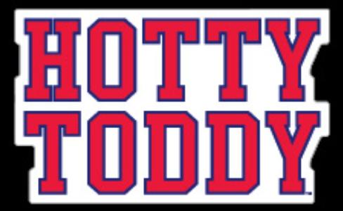 Red Hotty Toddy Block Vinyl Decal 3 in