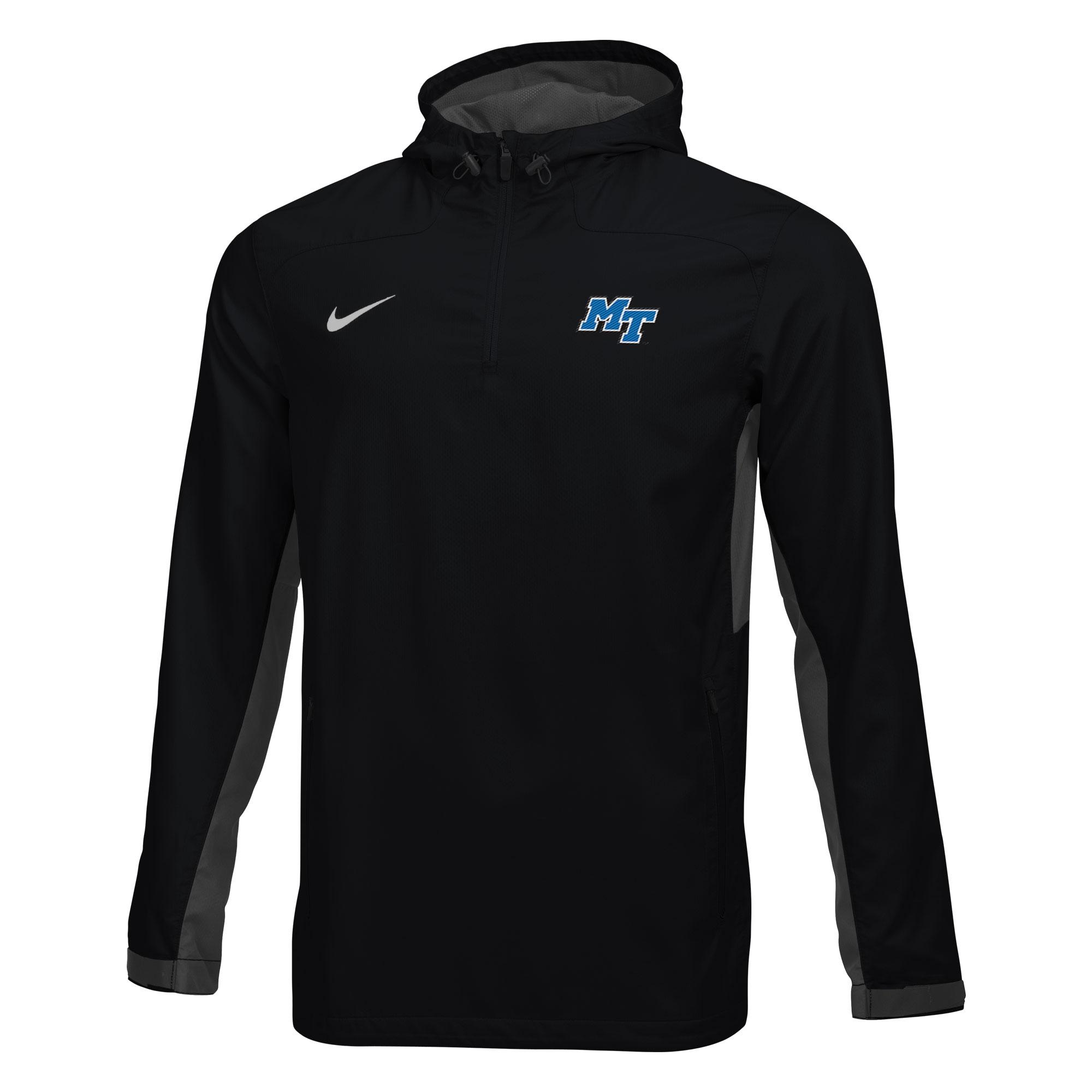 MT Logo Woven 1/4 Zip Hooded Jacket
