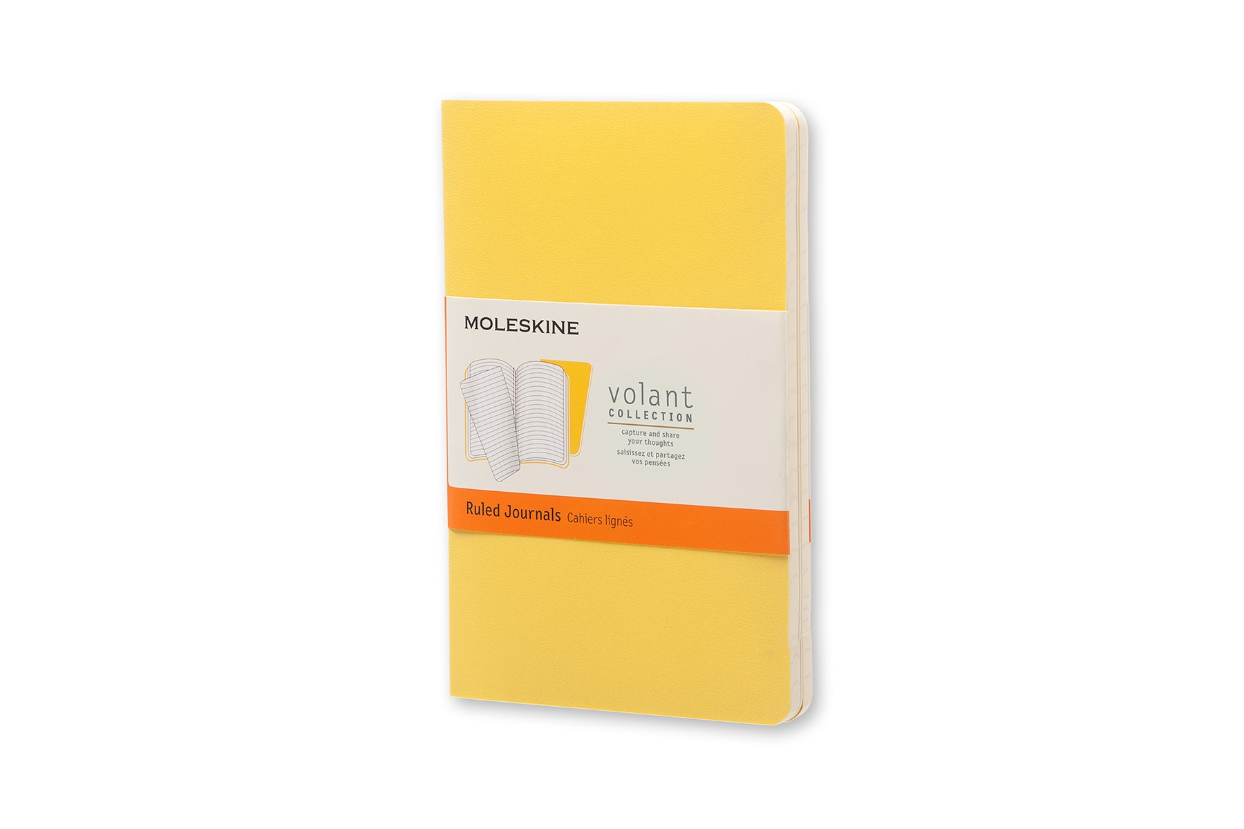 Moleskine Volant Journal Ruled Pocket Sunflower Yellow/Brass Yellow