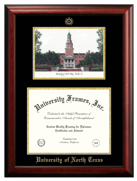 UNIVERSITY PICTURE DOUBLE DIPLOMA FRAME