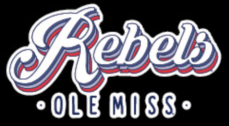 Retro Rebels Ole Miss Stacked Vinyl Decal 3 in