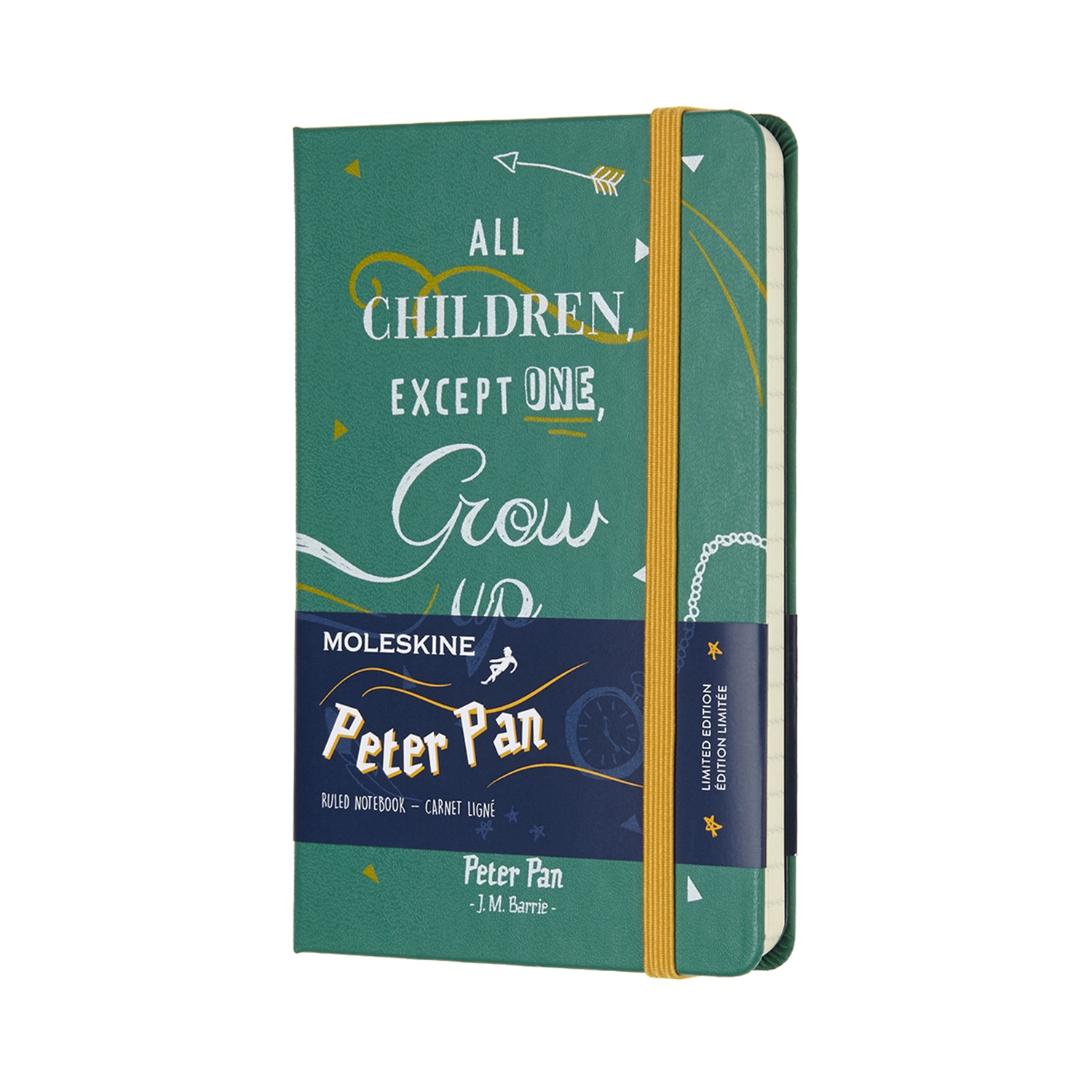 Peter Pan - Limited Edition Notebook - Pocket Ruled cerulean Blue by MOLESKINE