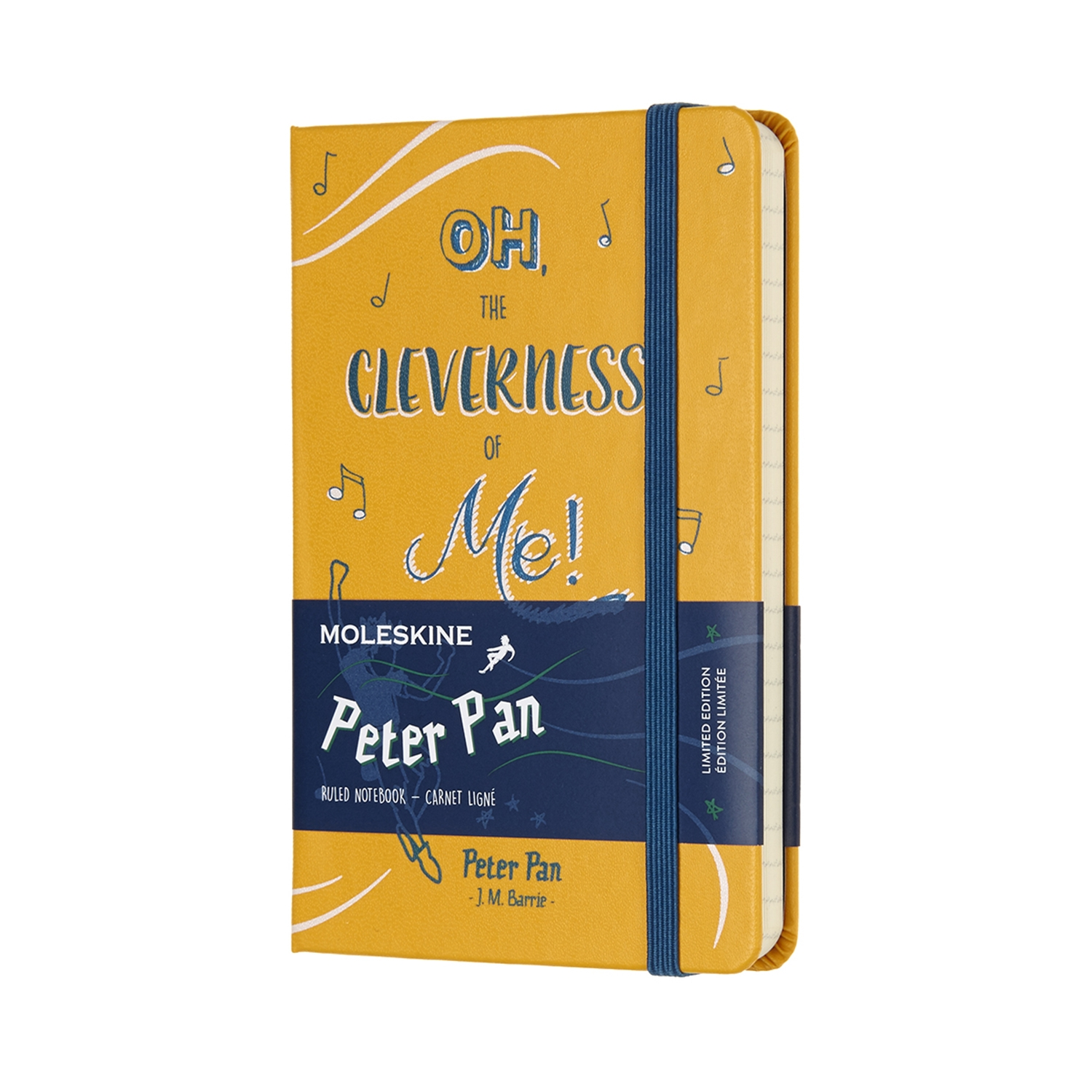 Peter Pan - Limited Edition Notebook - Pocket Ruled Orage Yellow By MOLESKINE