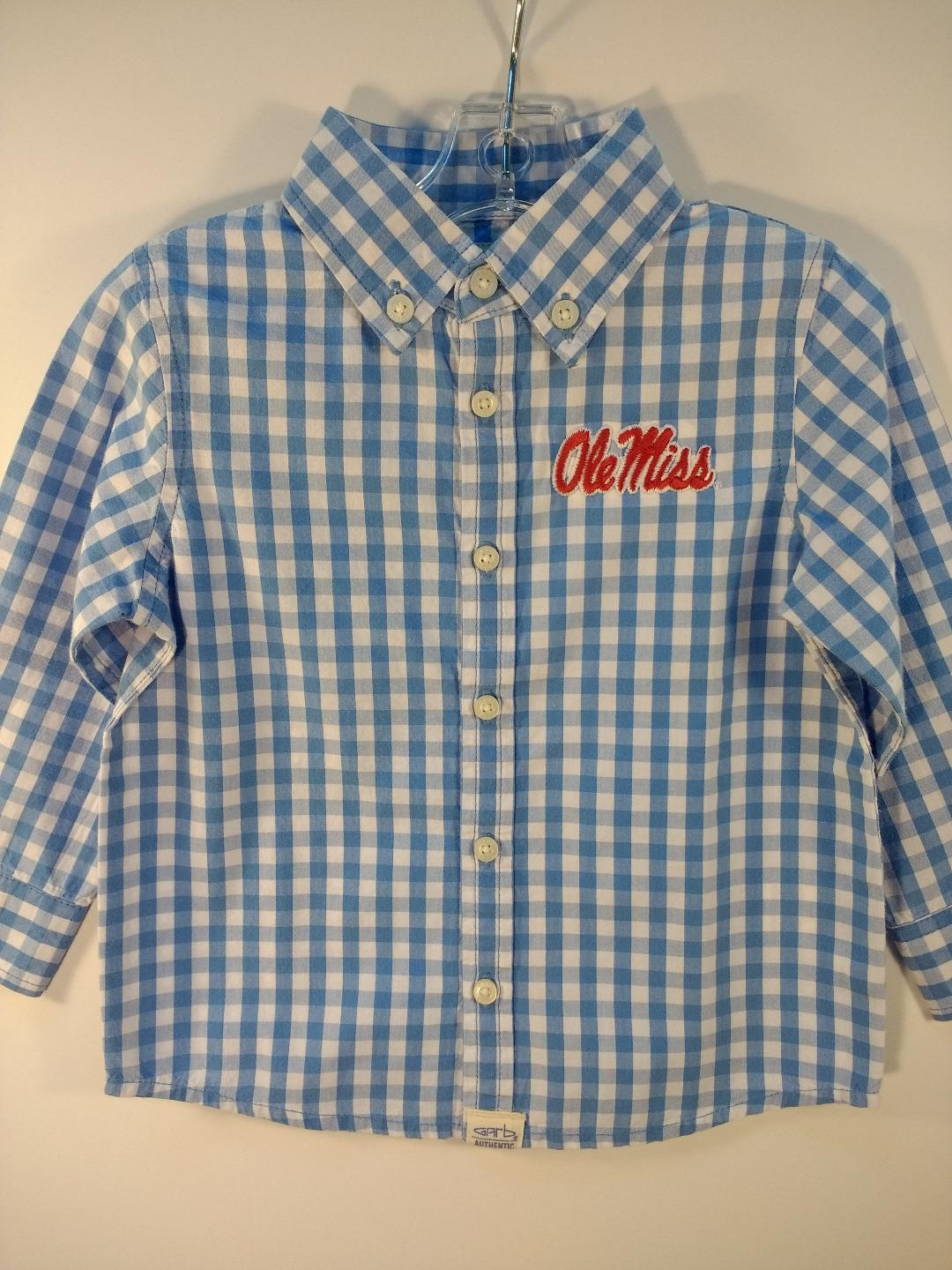 Garb Logan Infant Carolina Blue Gingham Shirt