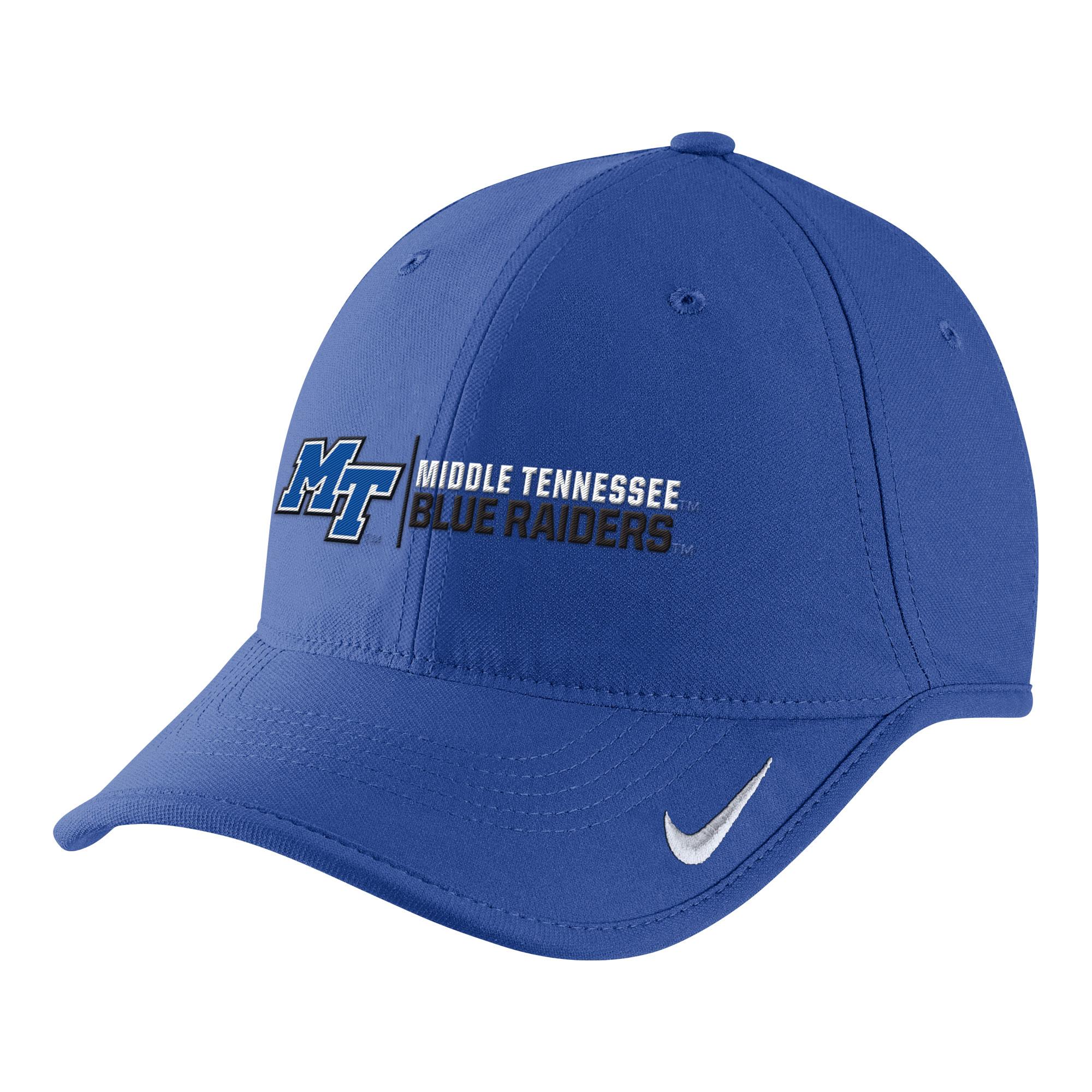 MT Blue Raiders Logo Nike® Aero Adjustable Hat