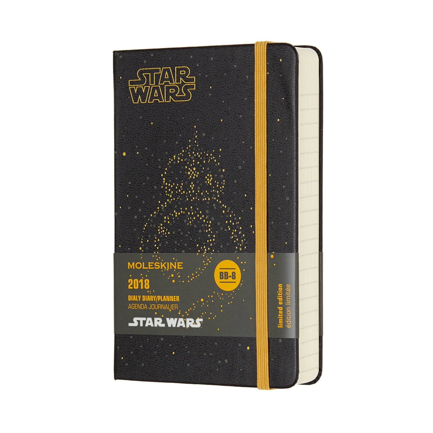 12M STAR WARS DAILY POCKET BB-8 by MOLESKINE
