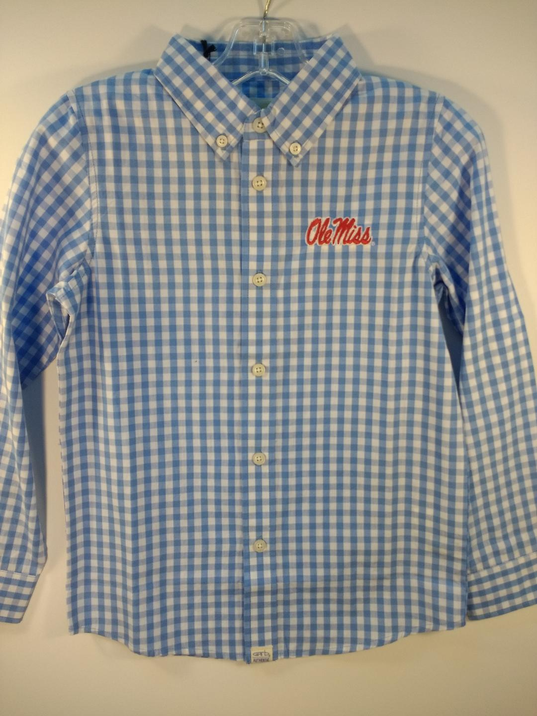 Garb Logan Toddler Carolina Blue Gingham Shirt