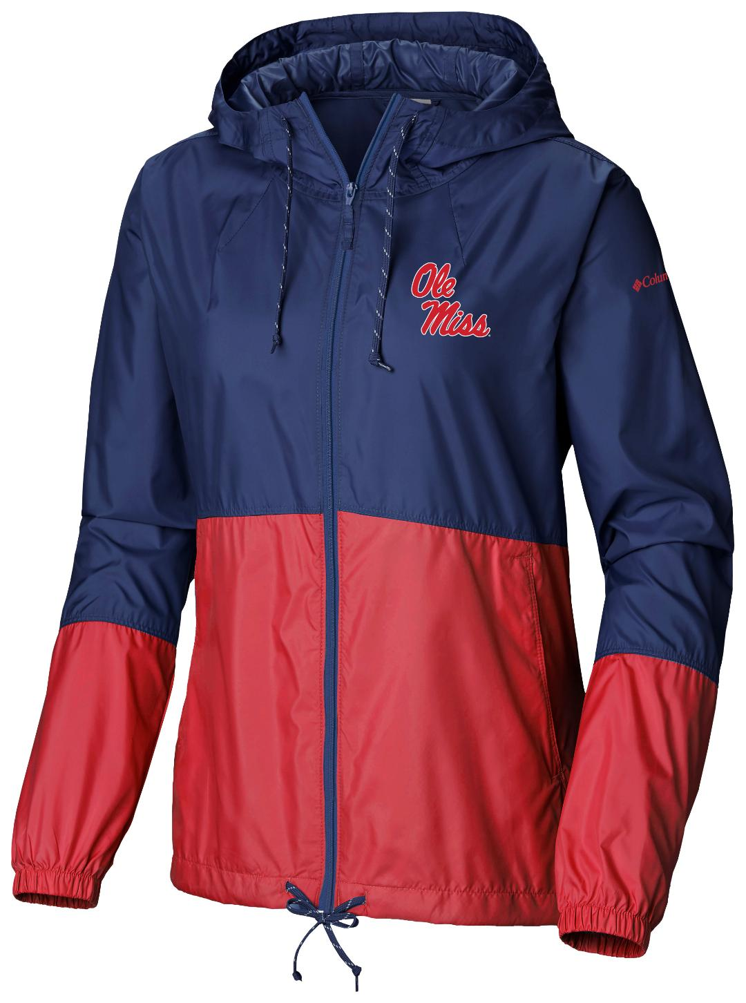 Columbia Womens Navy and Red Flash Forward Wind Breaker