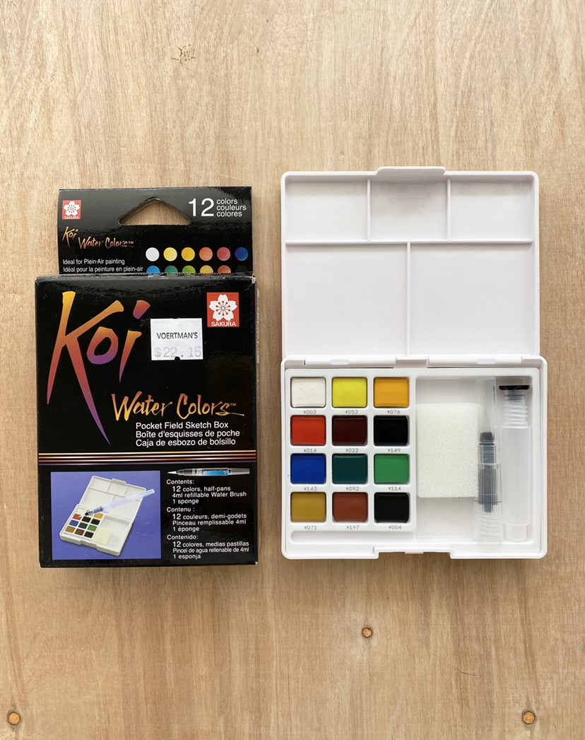 Koi Pocket Watercolor Set, 12-Piece