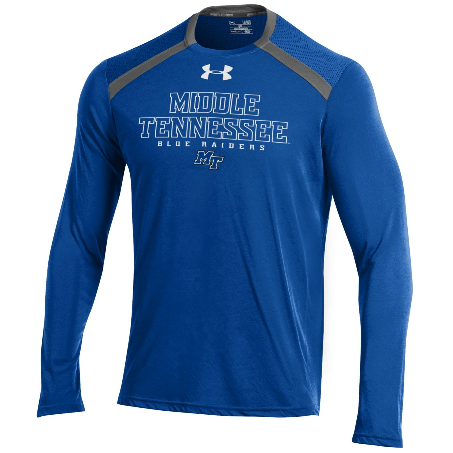 Middle Tennessee Blue Raiders SMU Threadborne Vented Tech Long Sleeve Shirt