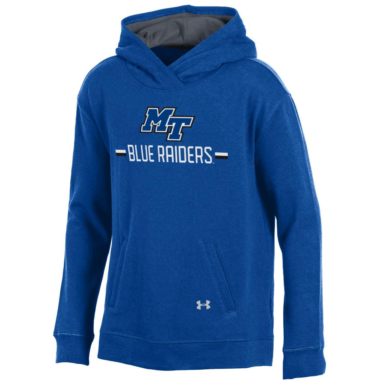 MT Blue Raider Youth Triblend Fleece Hoodie