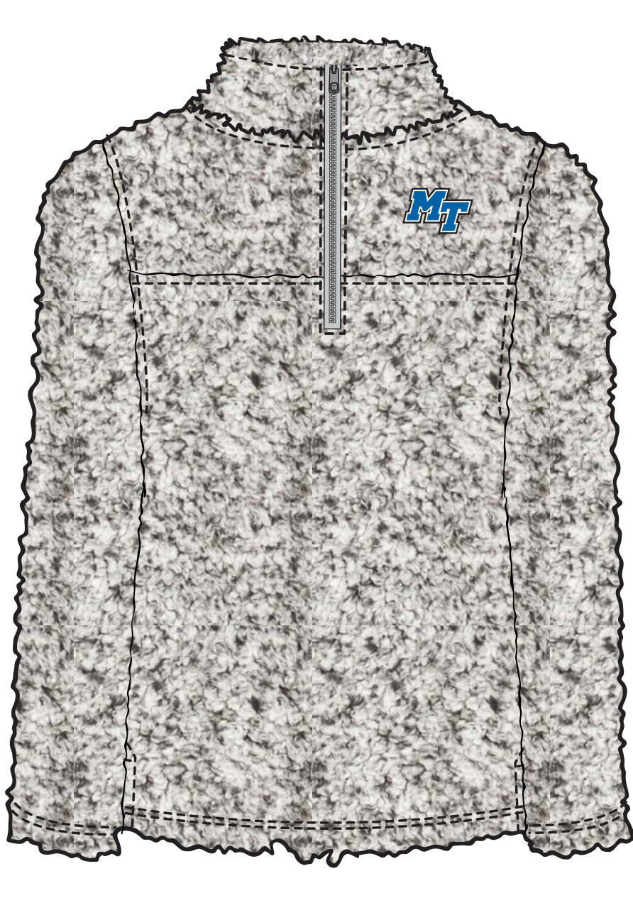 Youth MT Logo 1/4 Zip Sherpa Pullover