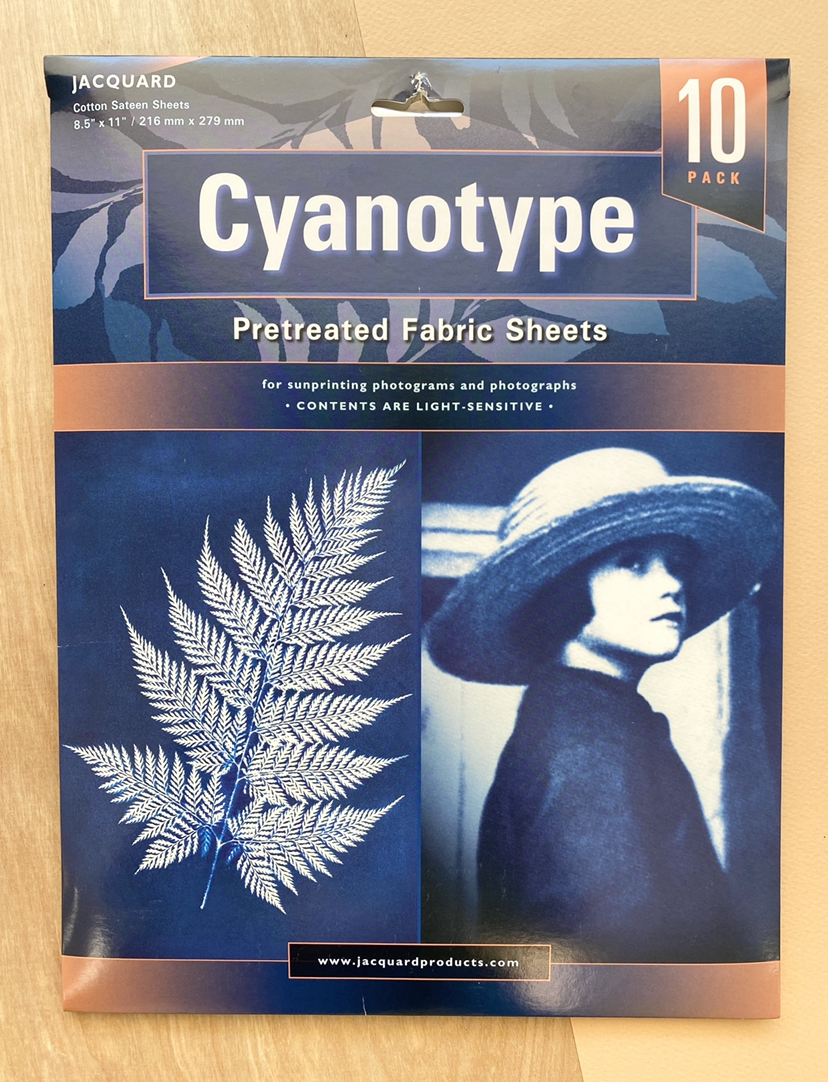 Cyanotype Pretreated Fabric Sheets, 10-pack