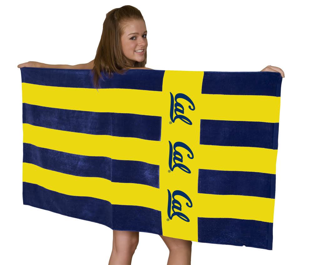 University of California Berkeley Stripe Beach Towel Cal Logo