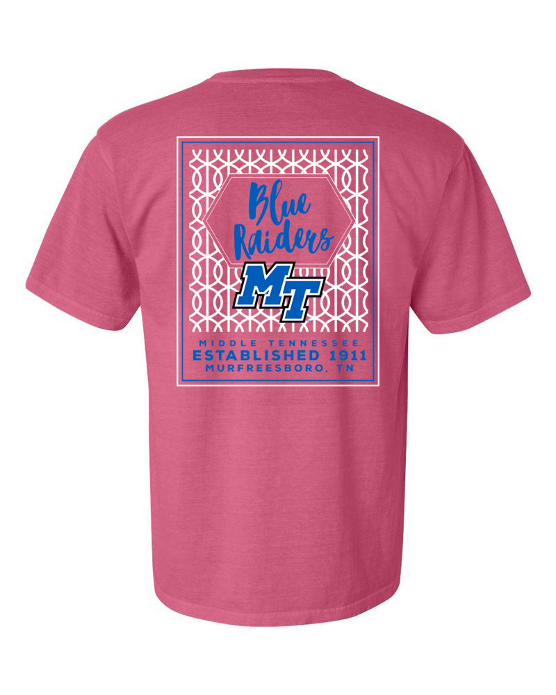 Blue Raiders Classic Spirit Sign Comfort Colors Shirt