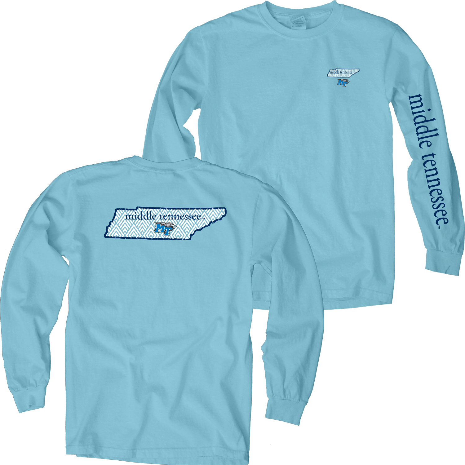 MTSU Old Orchard Overdyed Long Sleeve Shirt
