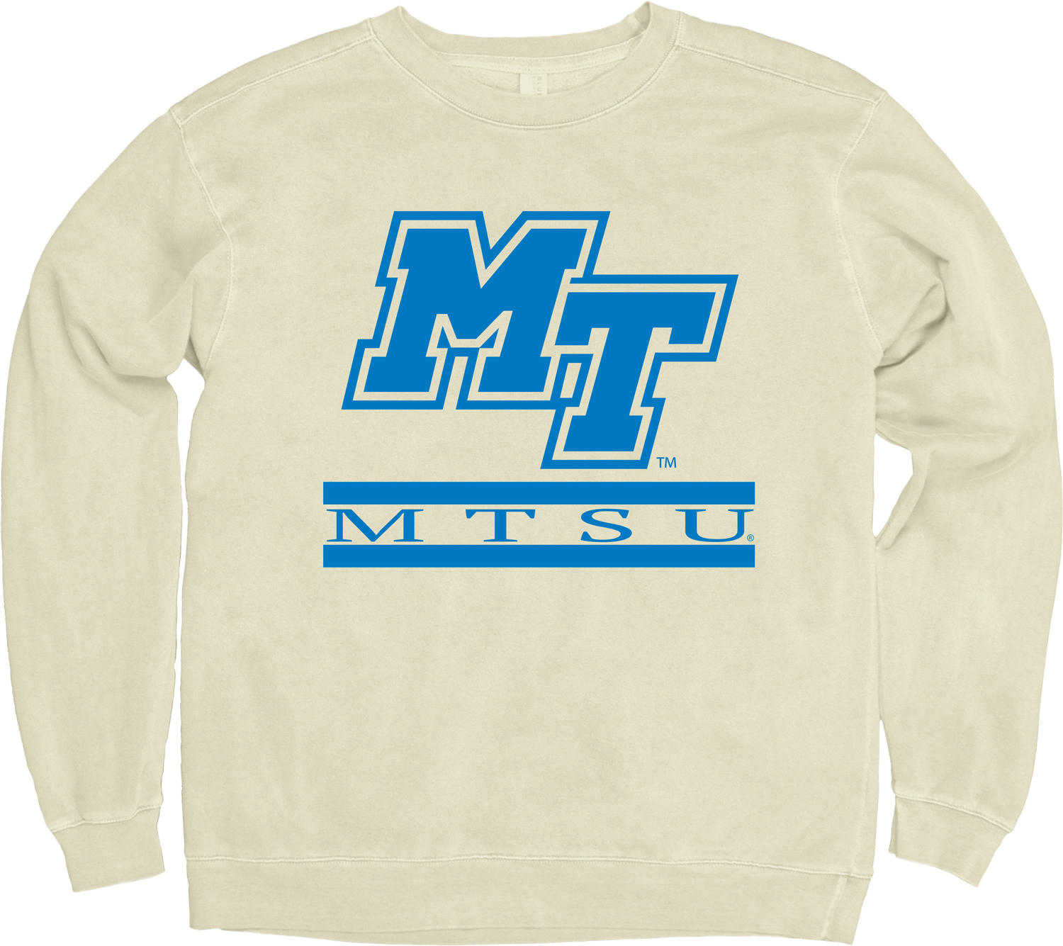 MT Logo MTSU Dyed Ringspun Fleece Sweatshirt