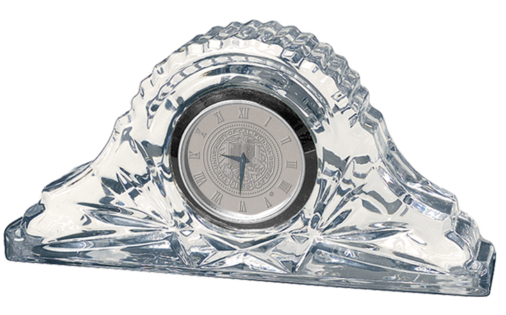 University of California Berkeley Crystal Table Clock