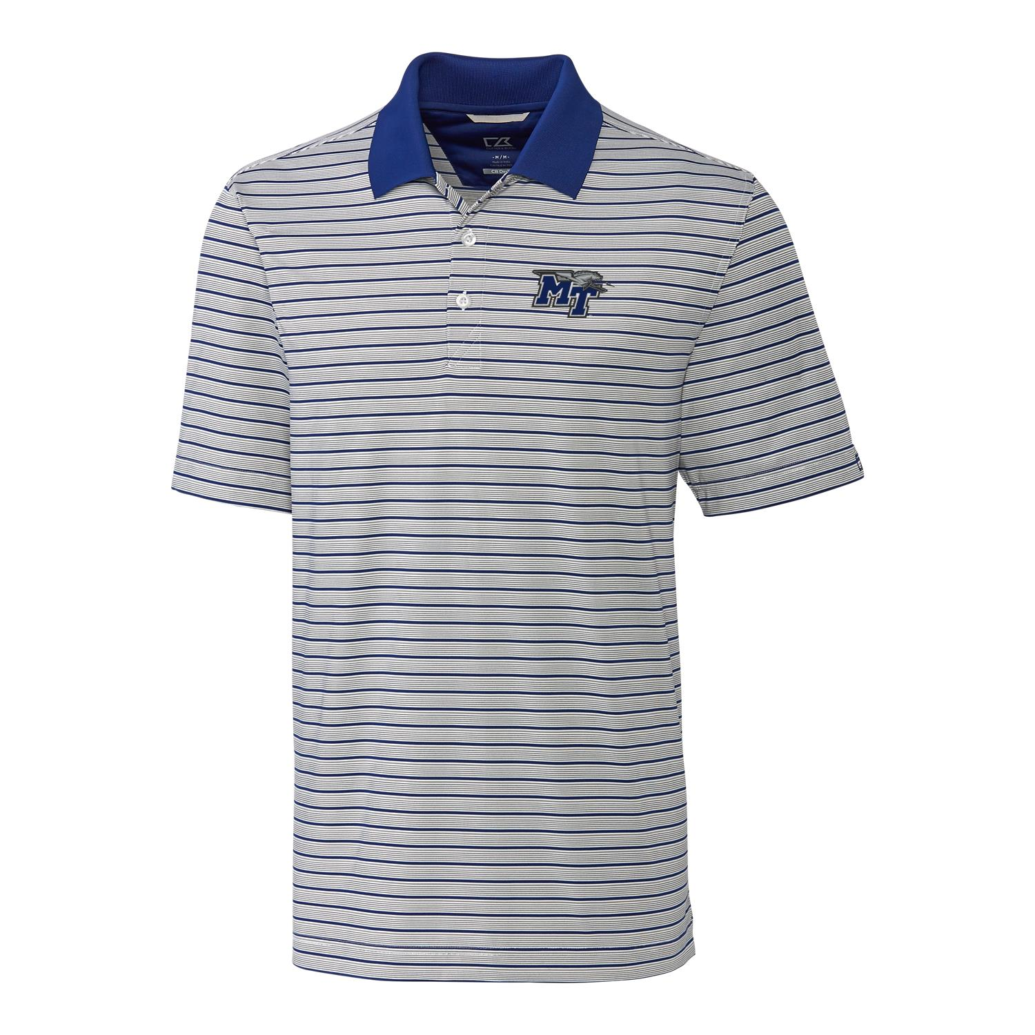 MT Logo w/ Lightning Surge Stripe Polo