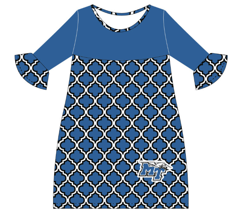 MT Logo w/ Lightning Amy 3/4 Sleeve Dress