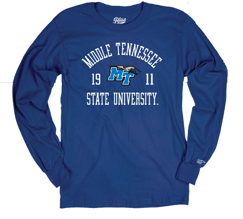 Middle Tennessee 1911 Logo W/ Lightning Landrum Long Sleeve Shirt