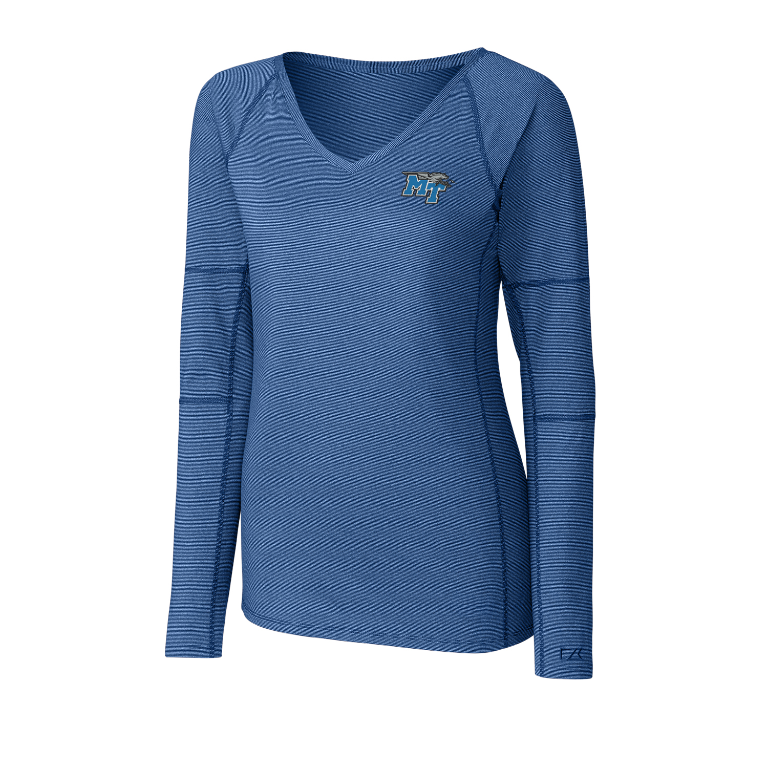 MT Logo w/ Lightning Women's Victory Long Sleeve Vneck