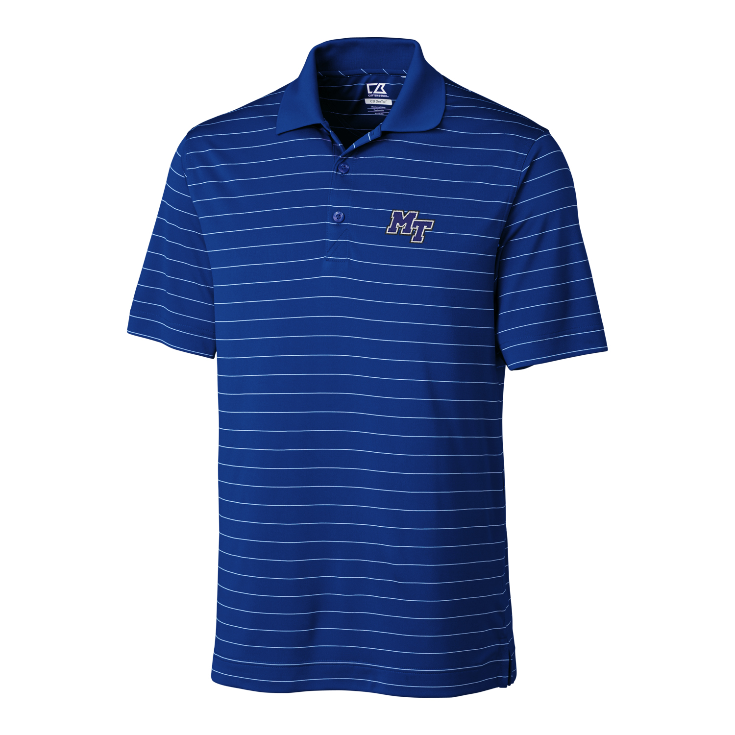 MT Logo Big & Tall Drytec Franklin Stripe Polo