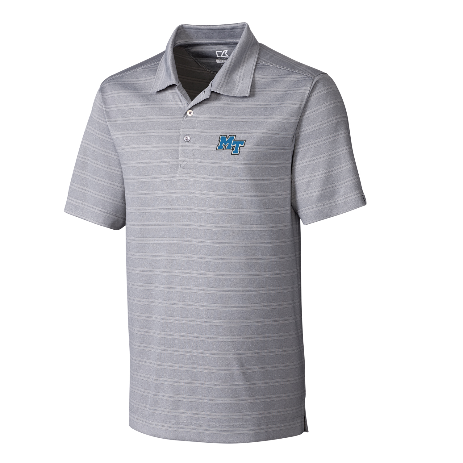 MT Logo Big & Tall DryTec Interbay Melange Polo