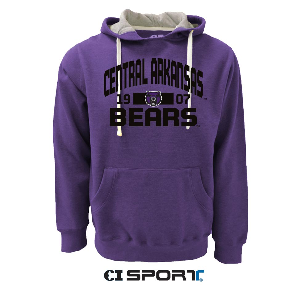 Central Arkansas Youth Purple Fleece Hoodie Baseball