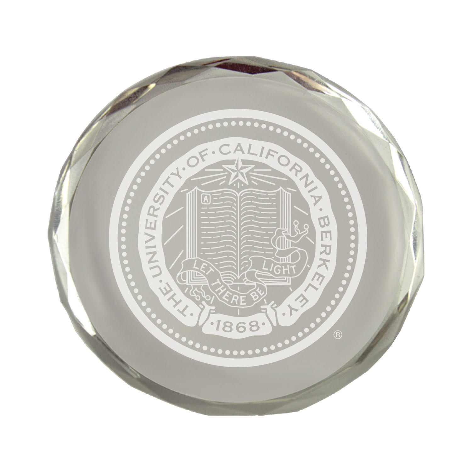 Cal Bears Crystal Paperweight Berkeley Seal