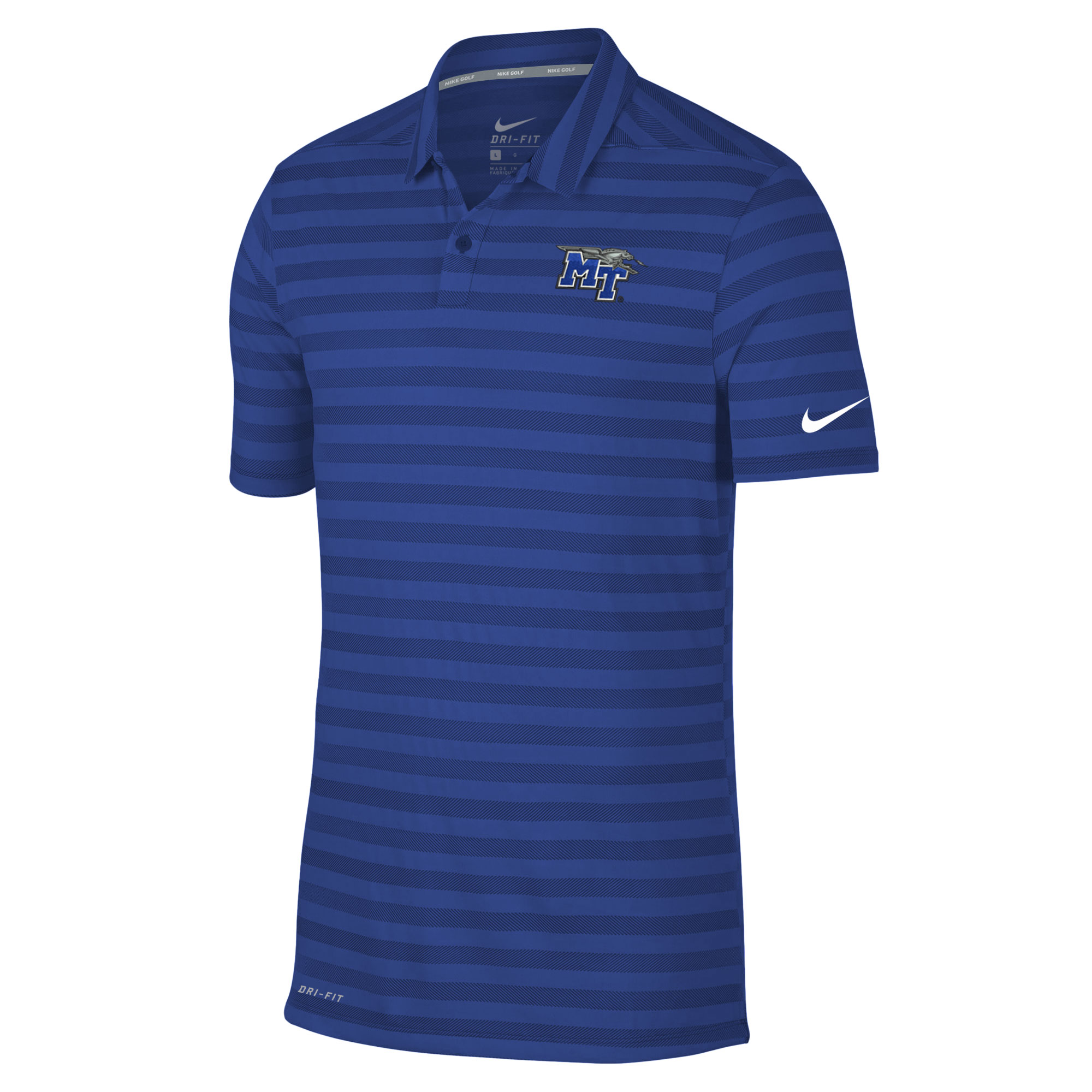 MT Logo w/ Lightning Dry Stripe Polo