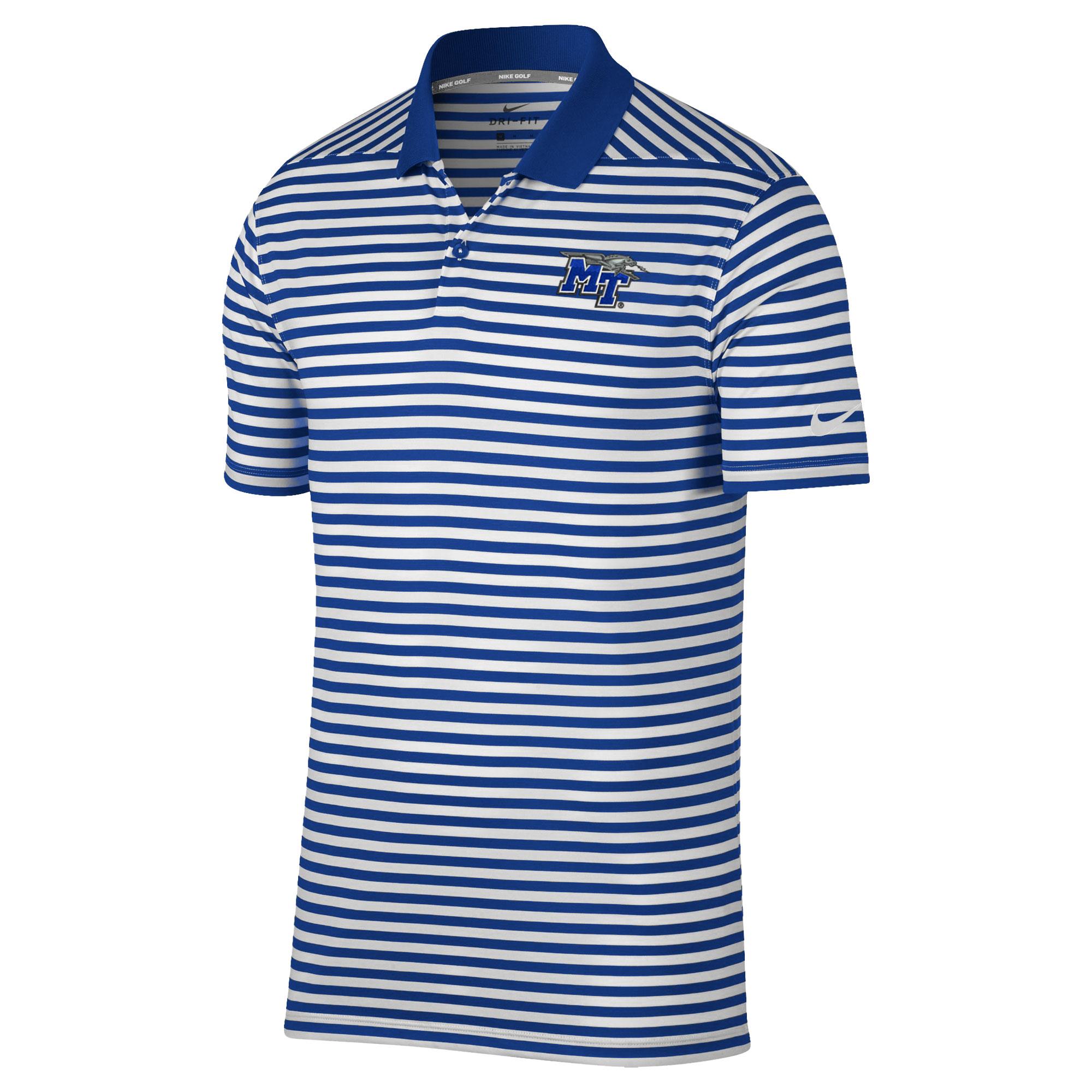 MT Logo w/Lightning Victory Stripe Nike® Golf Polo