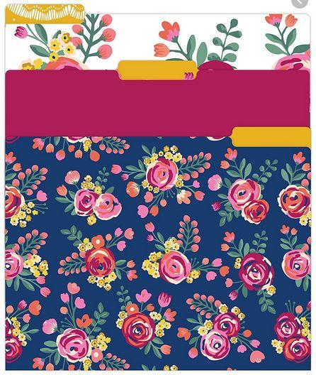 File Folder Set - Vintage Floral