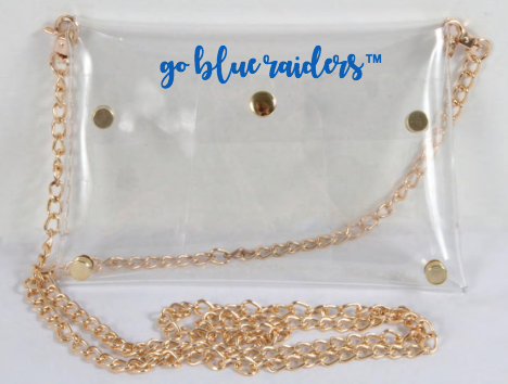 Go Blue Raiders Clear Purse