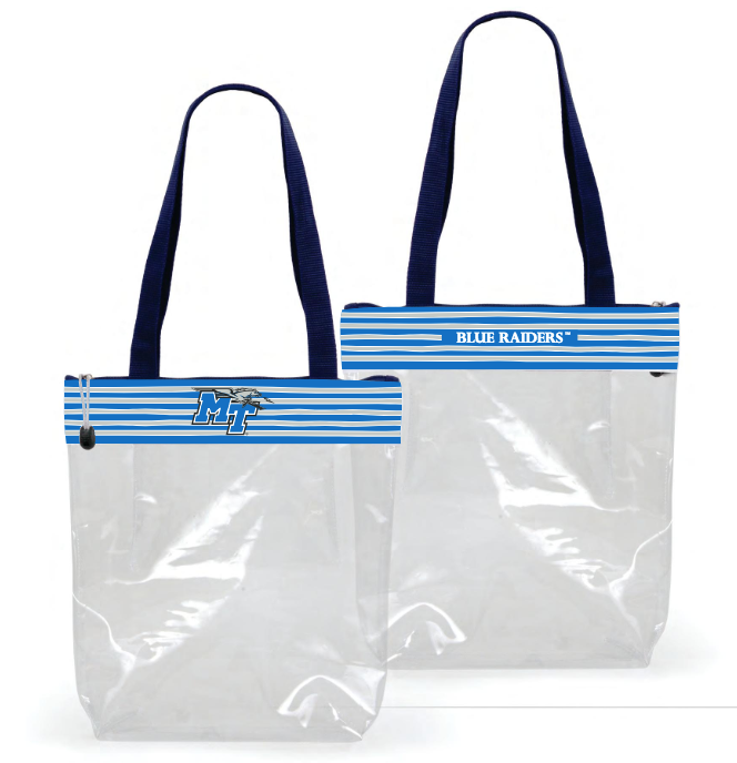MT Blue Raiders Clear Stadium Tote