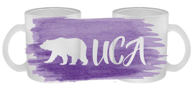 Walking Bear Frosted Glass Mug
