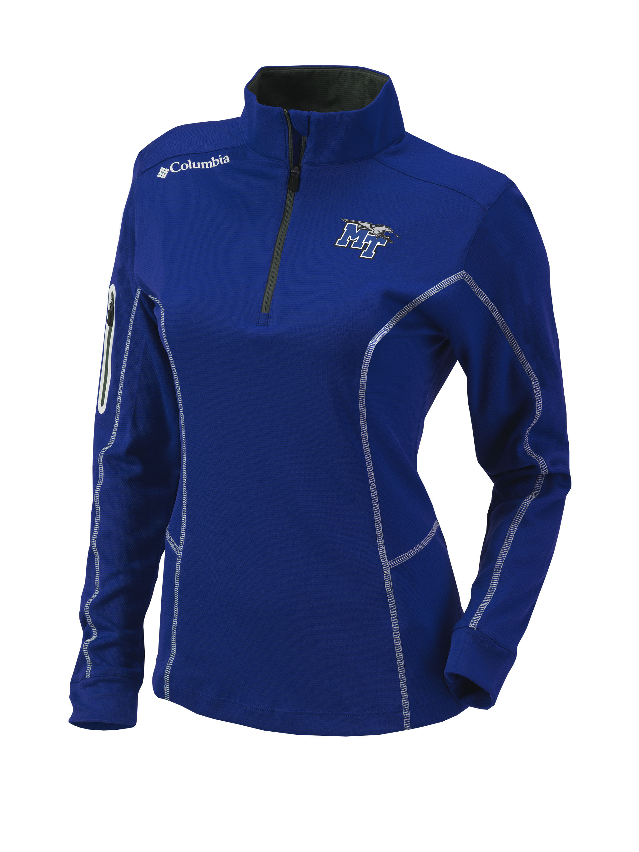 MT Logo w/ Lightning Women's Omni-Wick Shotgun 1/4 Zip