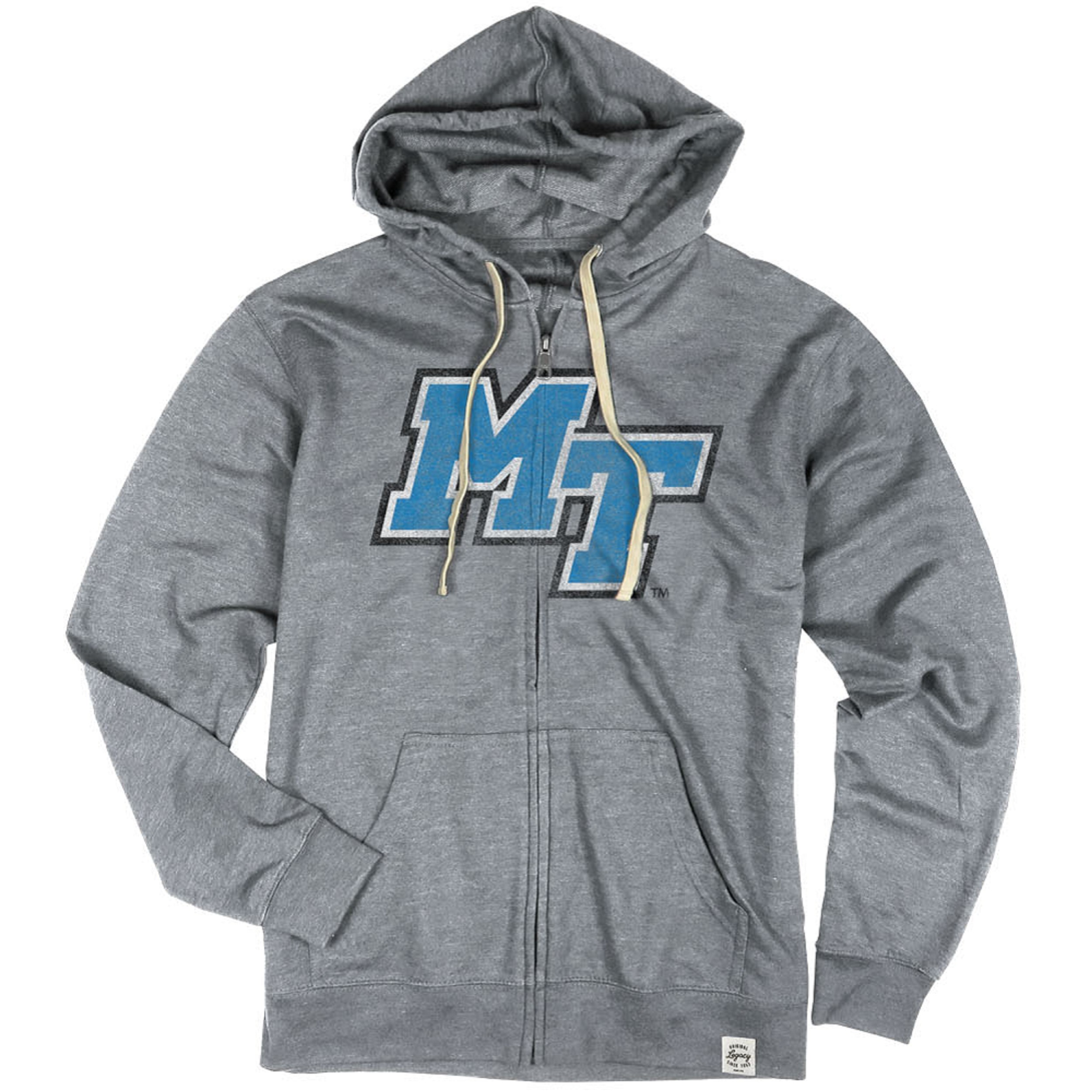MT Logo French Terry Fleece Zip Hoodie