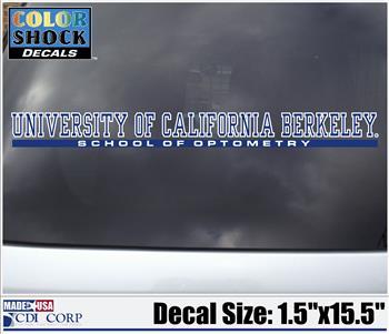Cal Berkeley School of Optometry Decal