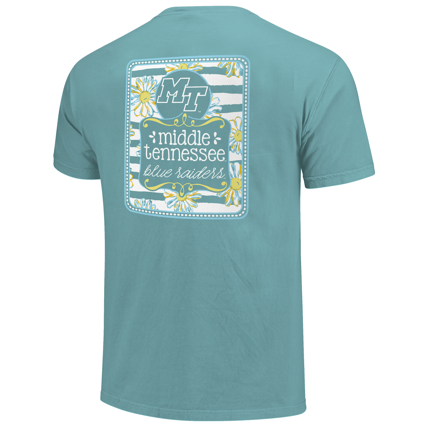 MT Blue Raiders Daisy Block Comfort Colors Shirt