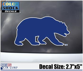 Blue Cal Bear Decal