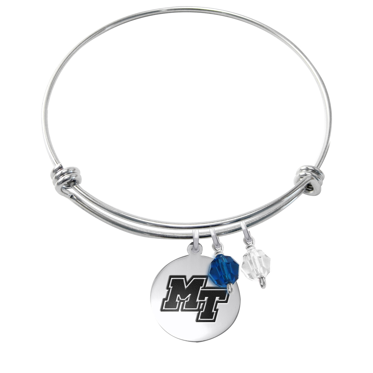 MT Logo Stainless Steel Bangle