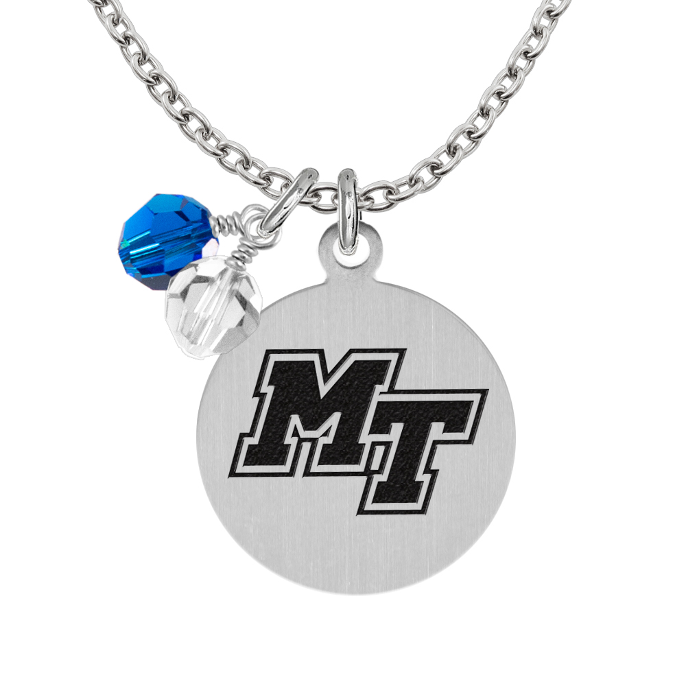 MT Logo Stainless Steel Round Necklace
